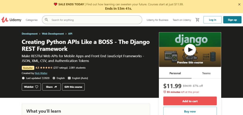 Free django courses