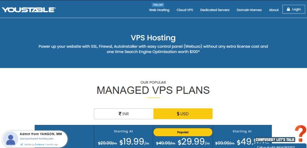 YouStable Django VPS Hosting