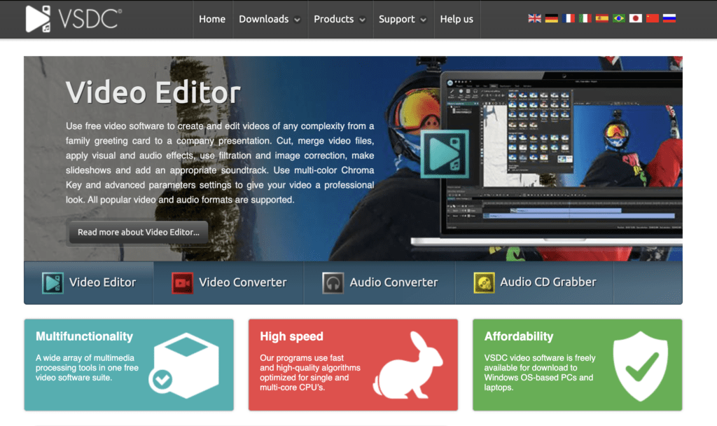 VSDC Free Video Editor software for bloggers