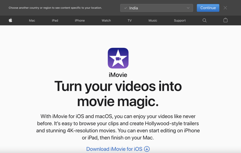 iMovie Free Video Editor Software for Bloggers