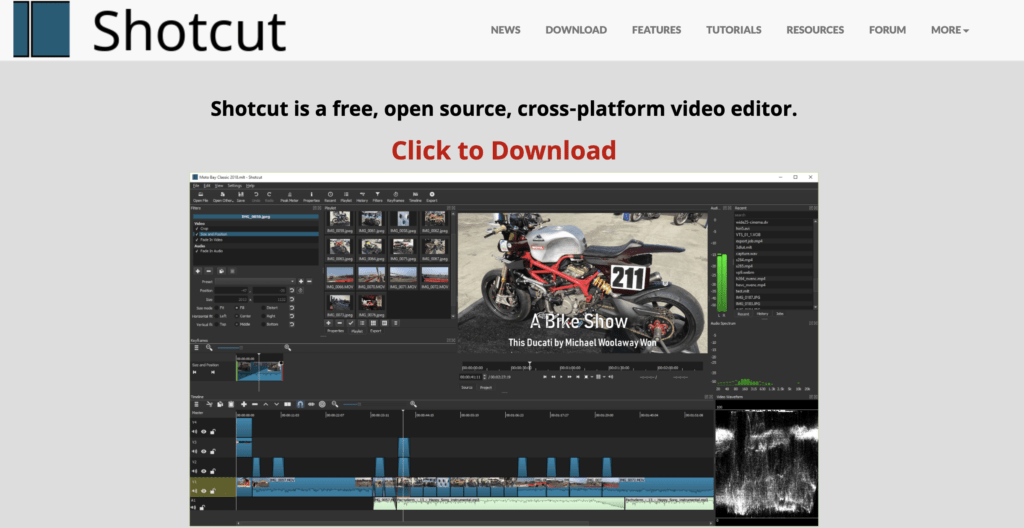 shortcut free Video Editor software for Bloggers