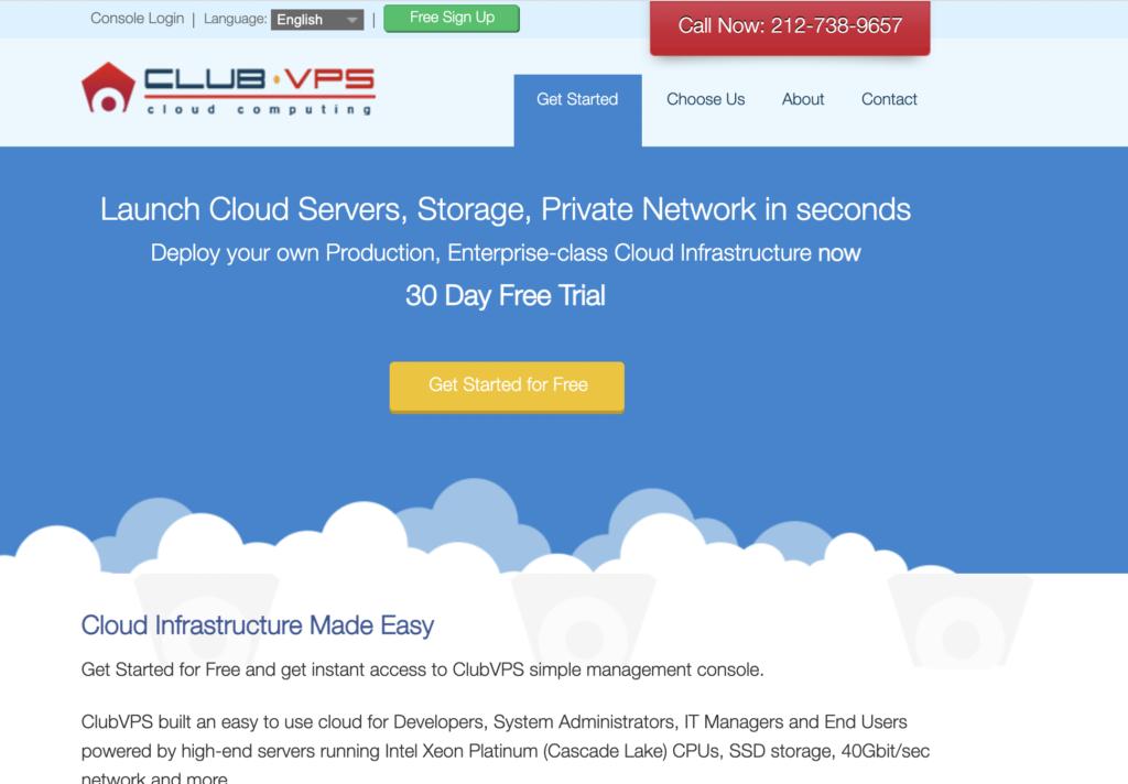 ClubVPS Best free Cloud Vps Hosting Providers